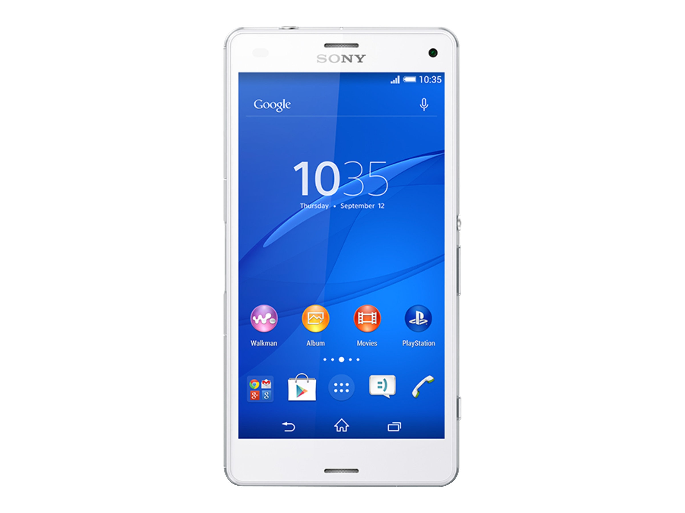 Sony XPeria Z3 Compact LTE D5803 4.6 2.5GHZ 4CR 16GB 20.7MP NFC Phone - White, 1290-0539, 17964498, Cellular Phones