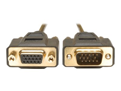 Tripp Lite VGA Monitor Extension Cable - HDDB15F to HDDB15M Gold Connectors - 10 feet