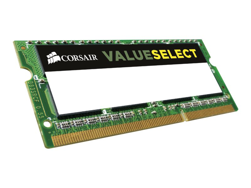 Corsair 8GB PC3-12800 204-pin DDR3 SDRAM SODIMM, CMSO8GX3M1C1600C11
