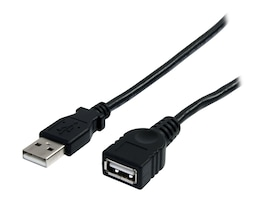 StarTech.com USB 2.0 Type A M F Extension Cable, Black, 3ft, USBEXTAA3BK, 11862343, Cables