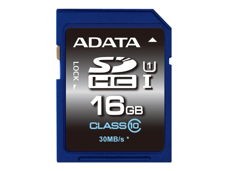 A-Data 16GB SDHC UHS-I U1 Memory Card, Class 10
