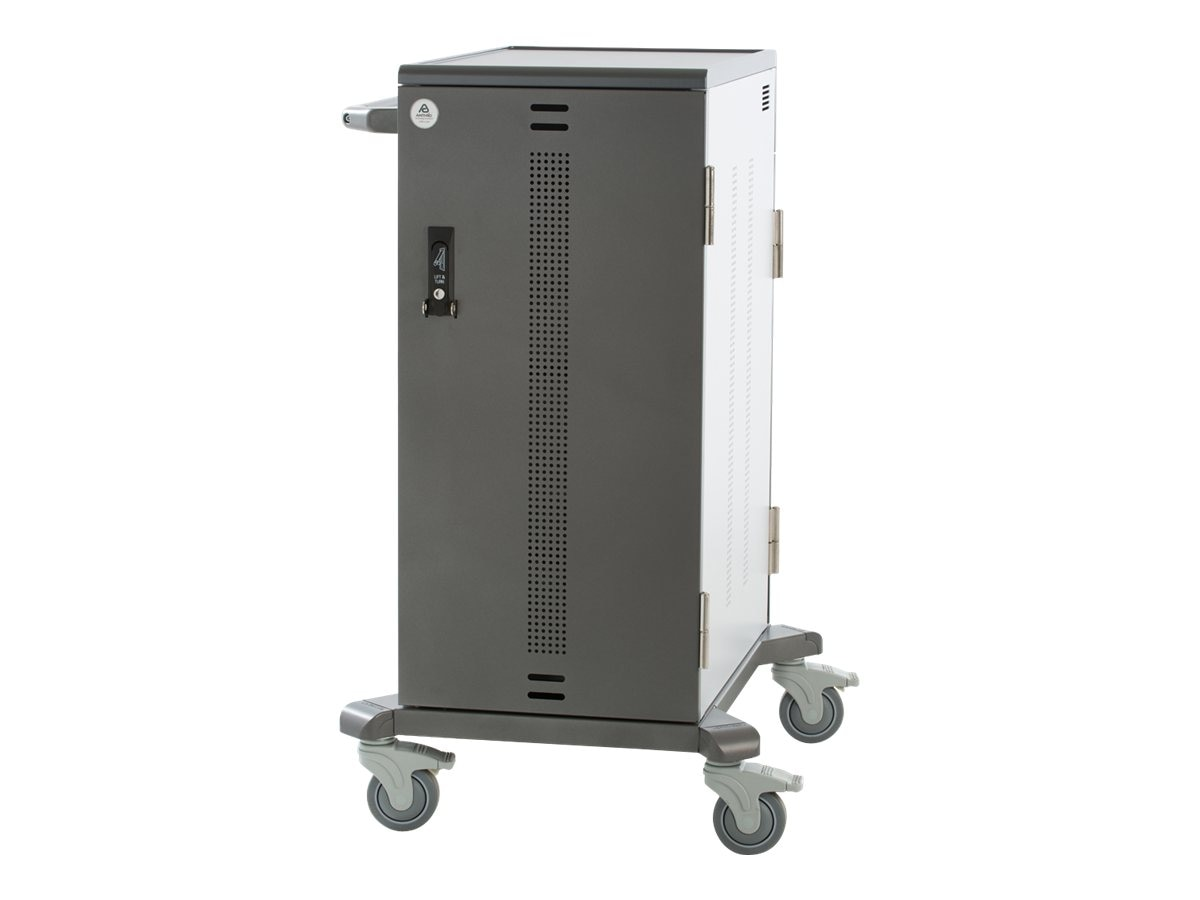 Ergotron Adjustable Junior YES Cart for Mini-Laptops, Made with Anthro DNA, YESMJUGMPW4, 17522551, Computer Carts