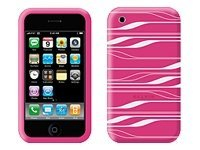 Belkin Silicone Sleeve for iPhone 3G, Pink White, F8Z342-PCG, 8824881, Carrying Cases - Phones/PDAs