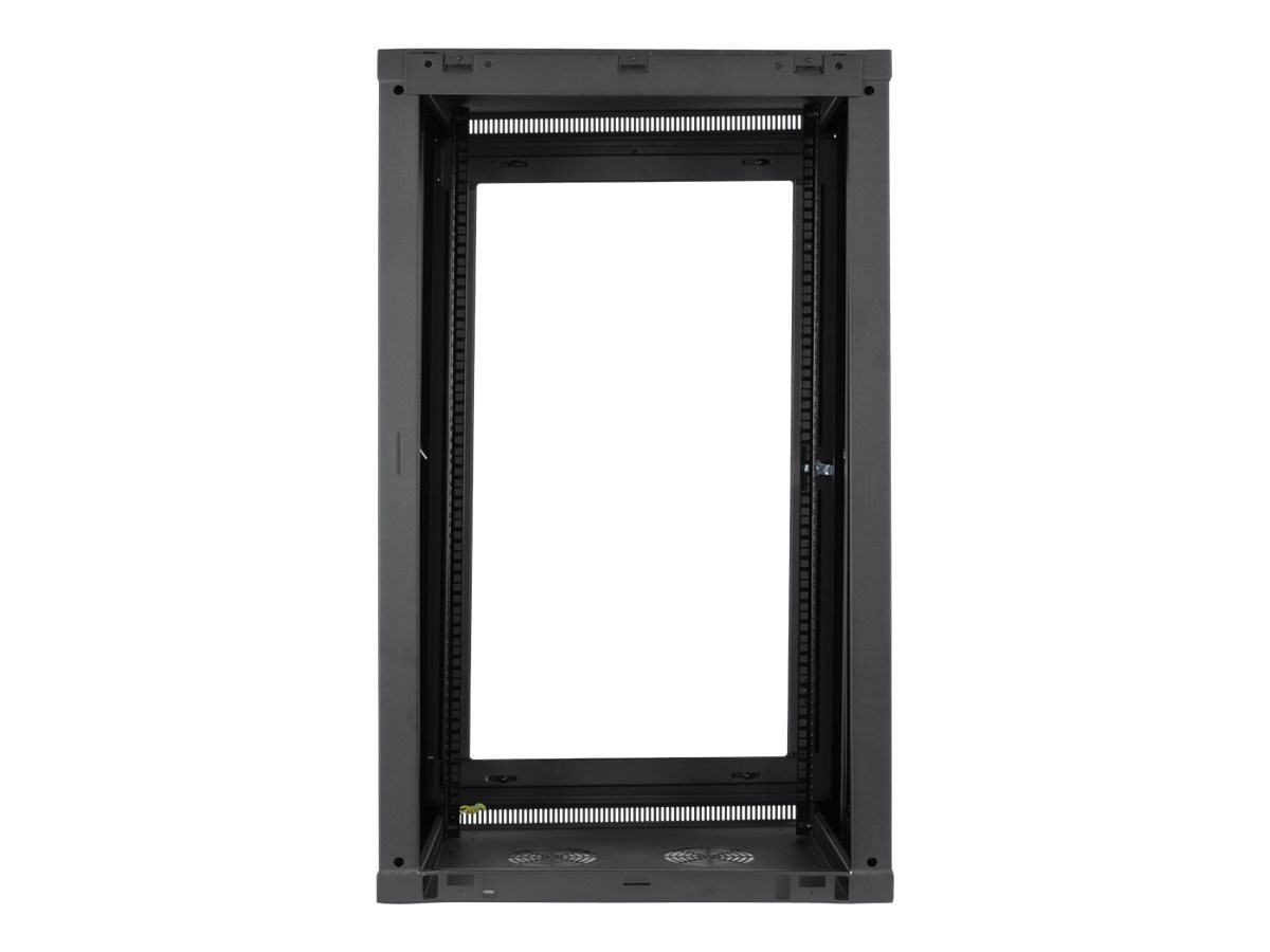 Tripp Lite SmartRack 21U Low-Profile Switch-Depth Wall-Mount Rack Enclosure Cabinet w  Clear Acrylic Window, SRW21UG