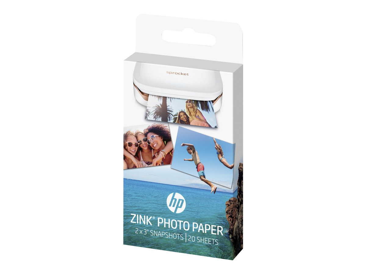 HP 2 x 3 ZINK Sticky-backed Photo Paper (20 Sheets)