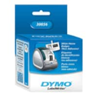 DYMO 2.4 x 4.2 White Non-Adhesive Badges (250 badges roll), 30856, 447853, Paper, Labels & Other Print Media