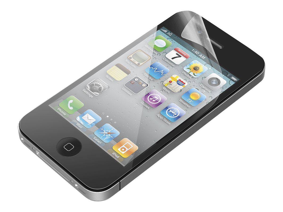 Belkin Screen Protector for iPhone, Transparent, B2A021, 14700809, Protective & Dust Covers