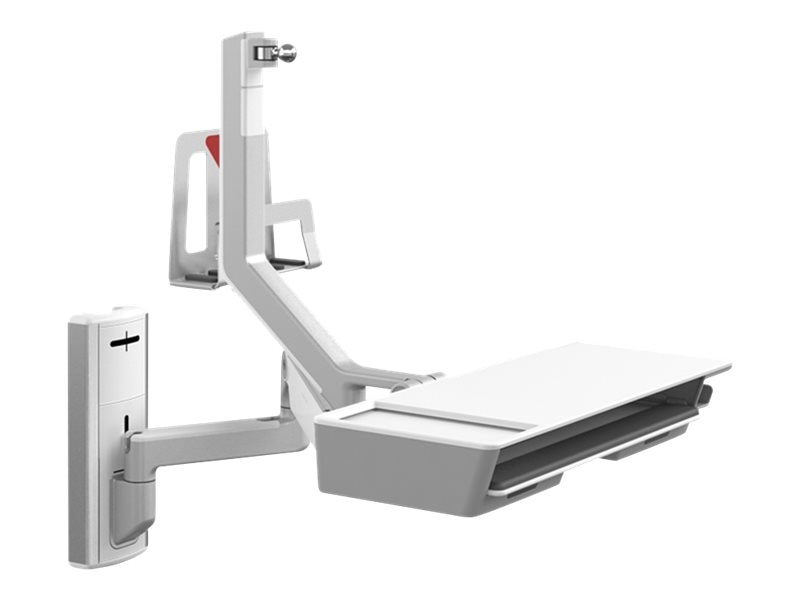 Humanscale V6 Wall Station, 12 Track, Solo Arm with 9 Straight 12 Adjustable Arm, V612-S3XX-22500
