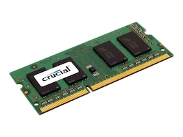 Crucial 8GB PC3-12800 204-pin DDR3 SDRAM SODIMM, CT102464BF160B, 14417190, Memory