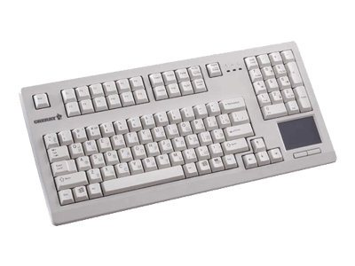 Cherry Light Gray 16, PS2 Keyboard with Touchpad US 104 Position Key Layout, G80-11900LTMUS-0, 6655075, Keyboards & Keypads