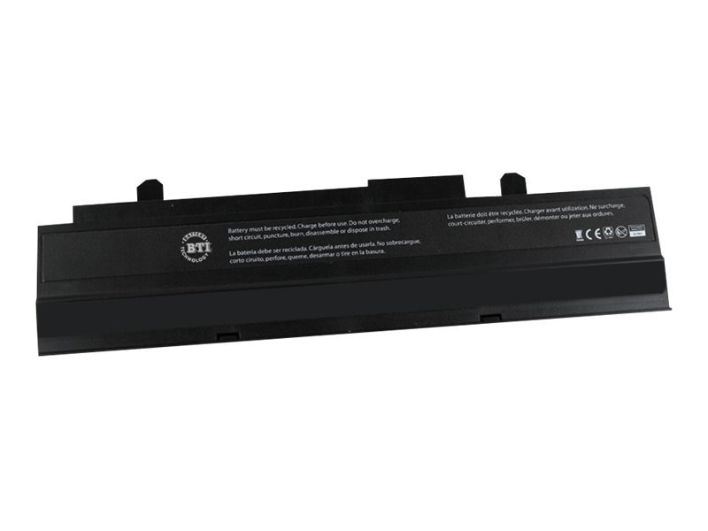 BTI Battery, Li-Ion 10.8V 5200mAh 6-cell for ASUS eee PC 1015 1016 1212, AS-1016P