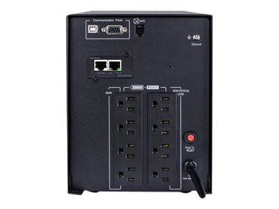 CyberPower Smart App Sinewave 1500VA 1050W UPS, LCD Control Panel, Line-interactive, WebSNMP Card, PR1500LCDN