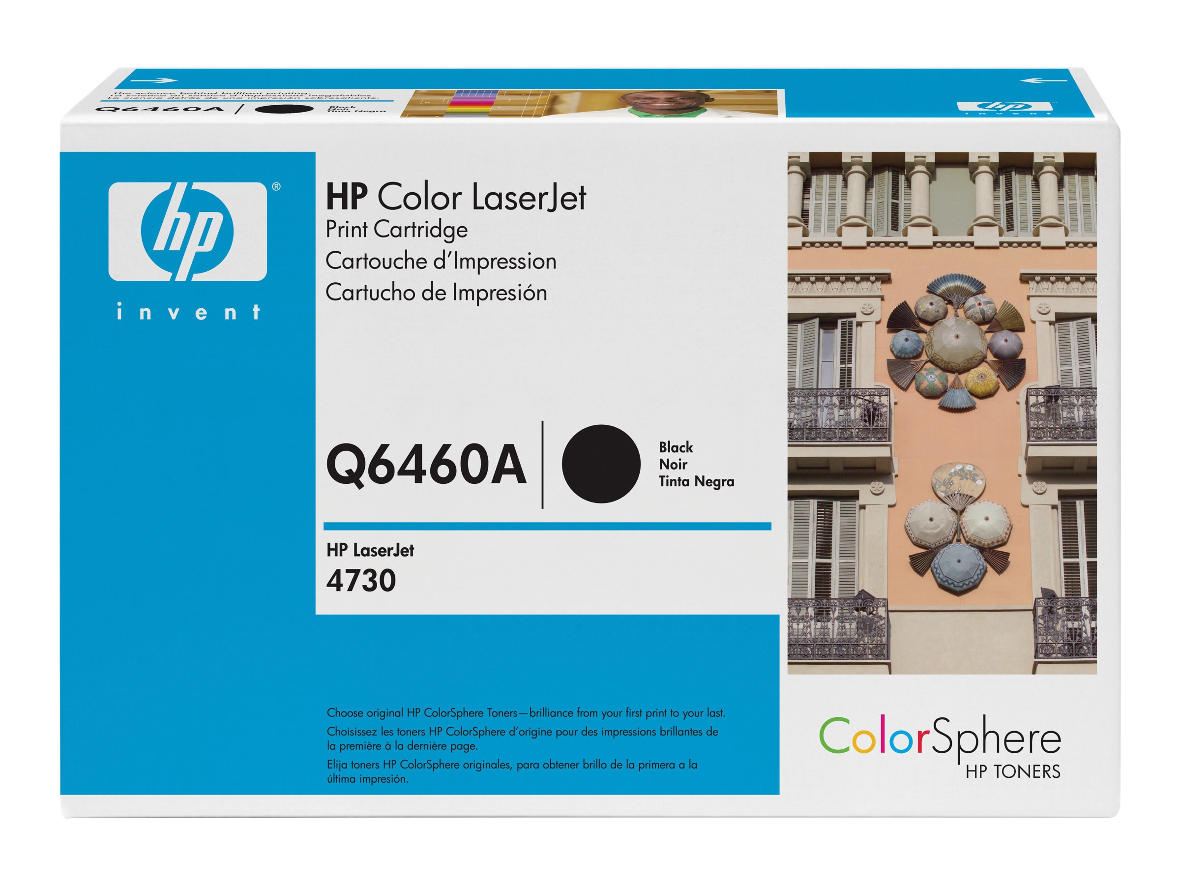 HP 644A (Q6460A) Black Original LaserJet Toner Cartridge for HP Color LaserJet 4730 Printers