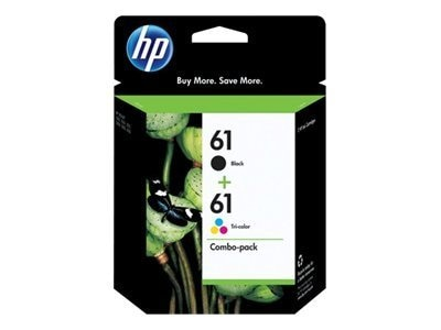 HP 61 (CR259FN) 2-pack Black Tri-color Original Ink Cartridges, CR259FN#140, 12101600, Ink Cartridges & Ink Refill Kits