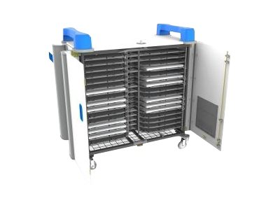 LapCabby 32h 20-Unit Universal Device Cart, Blue, UNICAB32HBL/USA, 31790156, Computer Carts