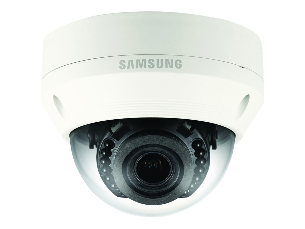 Samsung 4MP Vandal-Resistant Network IR Dome Camera with 2.8-12mm Lens