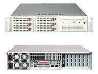 Supermicro Barebone A+ Server AS2020A-8RB 2U Rack, Dual AMD, 6xSCSI HS, FDD CD, 500W, Black, AS-2020A-8RB, 6424672, Barebones Systems