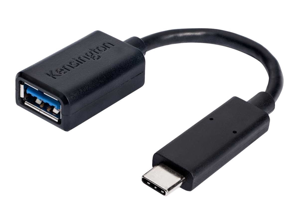 Kensington USB Type C (USB-C) to USB Type A M F Adapter, Black, K33992WW
