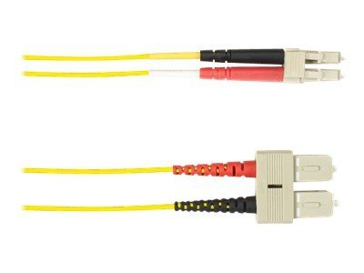 Black Box SC-LC 9 125 OS2 Singlemode Plenum Cable, Yellow, 1m, FOCMPSM-001M-SCLC-YL