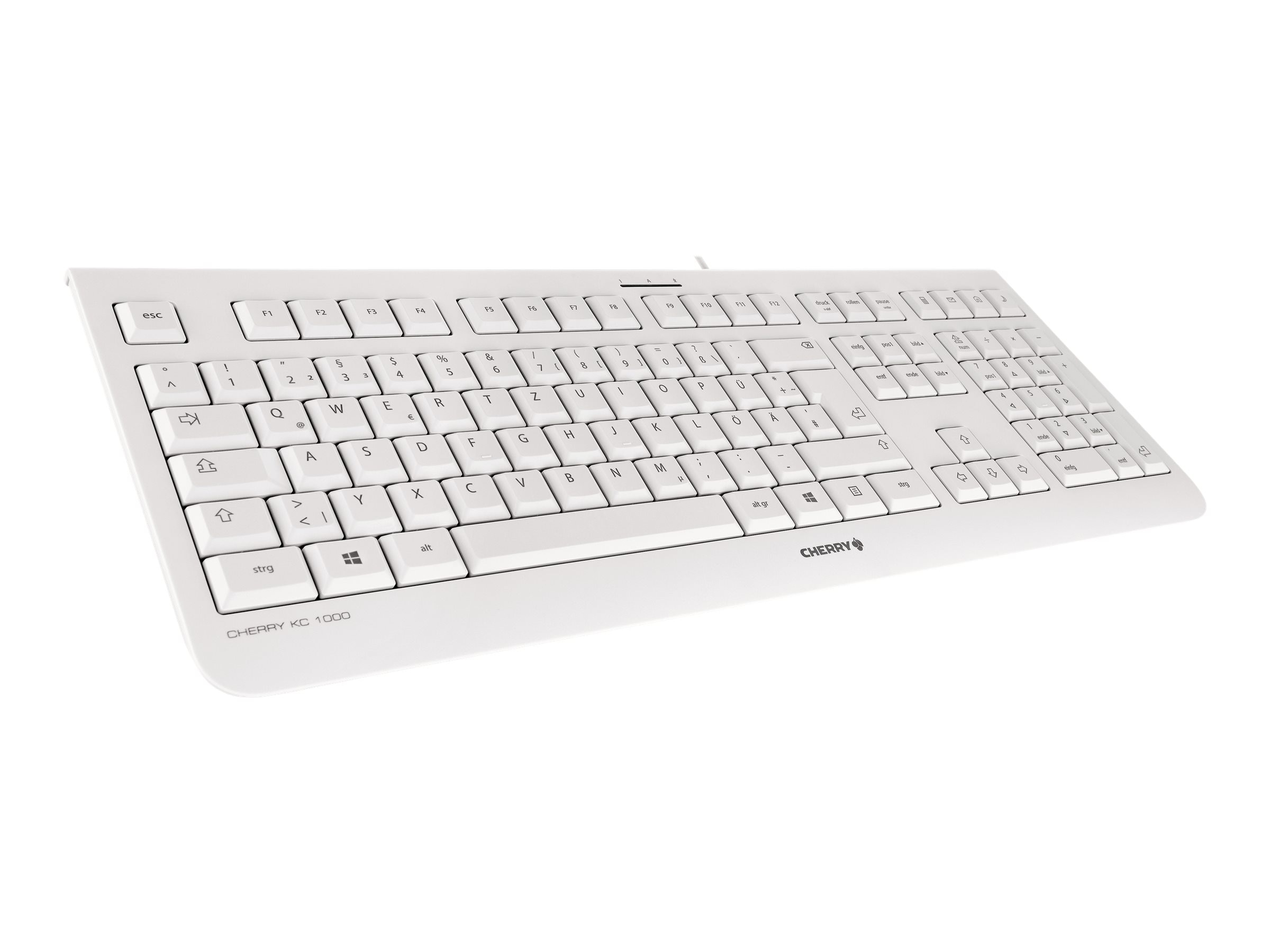 Cherry KC1000 104+4 Hot Keys, Whisper Quiet, Abrasion Resistant Labeling, JK-0800EU-0, 17839259, Keyboards & Keypads