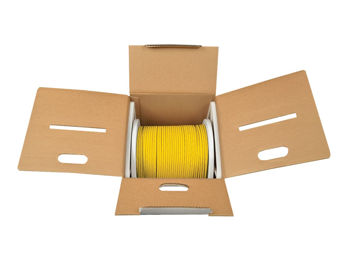 Tripp Lite Cat6 Gigabit Bulk Solid-Core PVC Cable, Yellow, 1000ft, N222-01K-YW