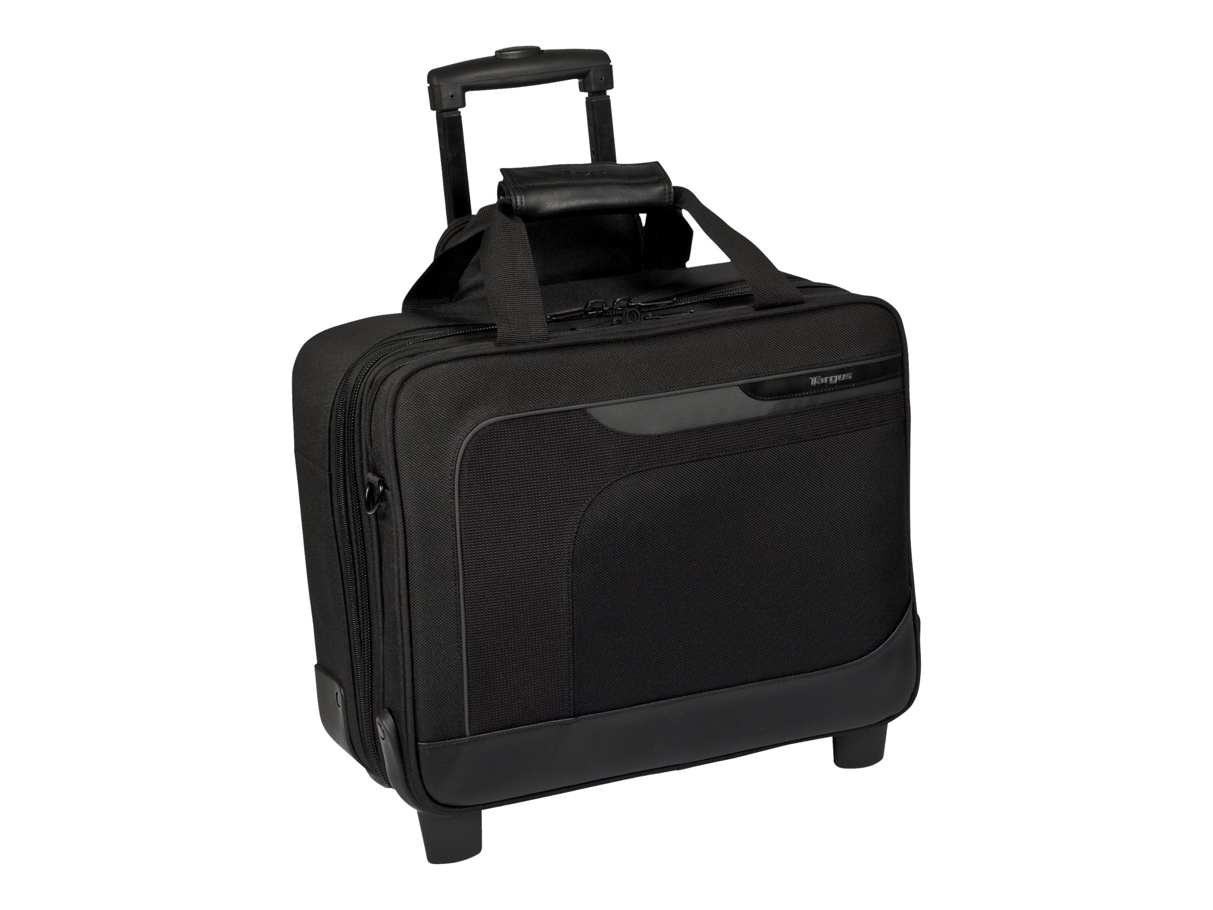 Targus Zip-Thru 15.6 Mobile Elite Roller Case, Black Gray, TBR006US, 9425208, Carrying Cases - Notebook