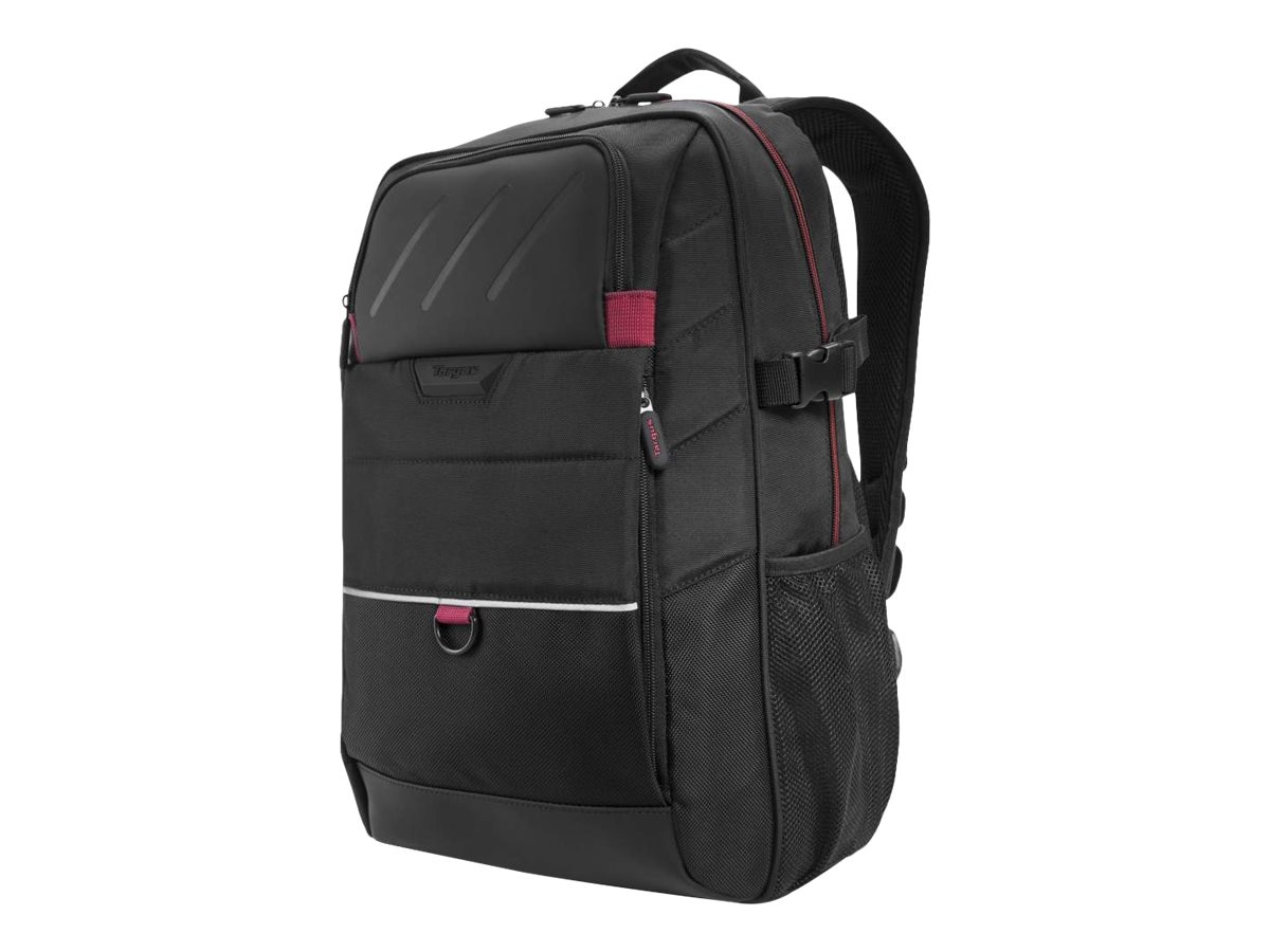 Targus 15.6 Gamer Laptop Carrying Backpack, Black