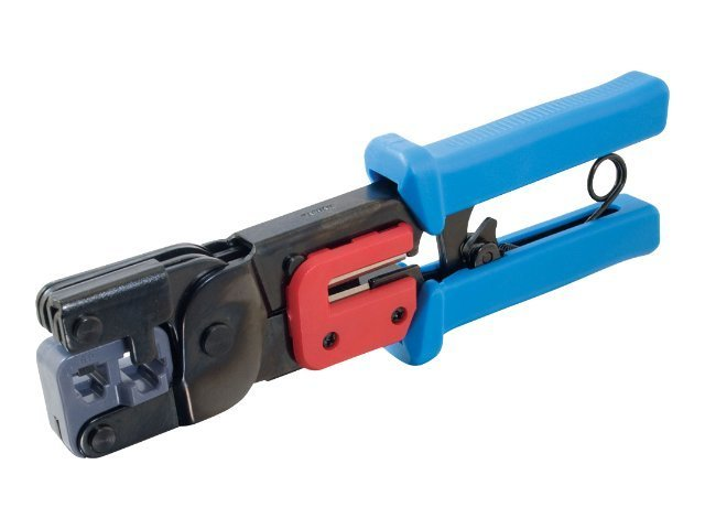 C2G RJ11 RJ45 Crimp Tool with Cable Stripper, 19579
