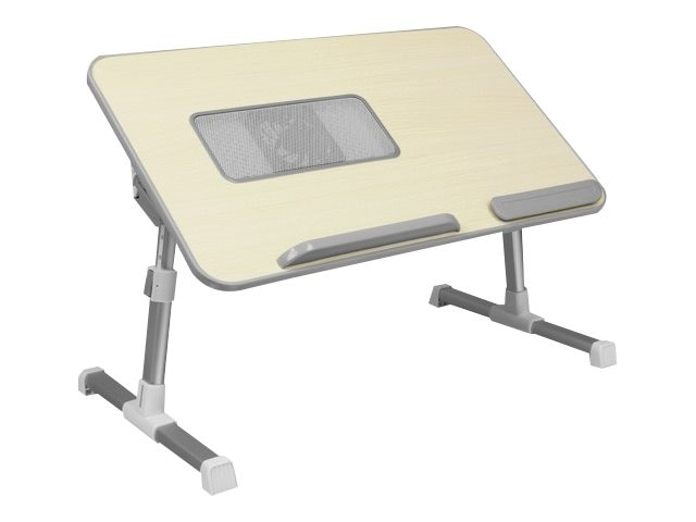 Aluratek Adjustable Ergonomic Laptop Cooling Table with Fan, ACT01F