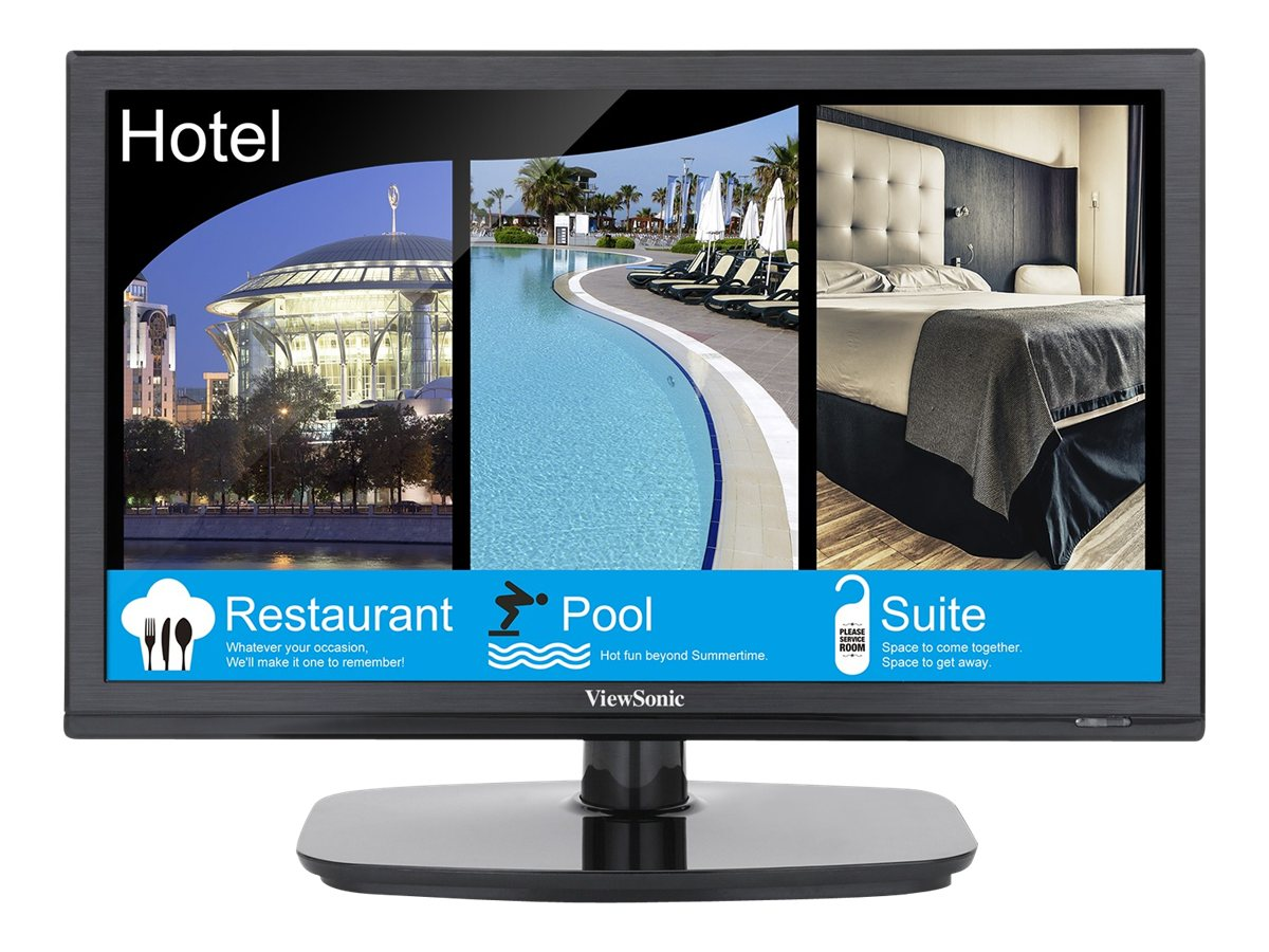 ViewSonic 15.6 VT1602-L LED-LCD Hospitality TV, Black, VT1602-L, 17412327, Televisions - LED-LCD Commercial