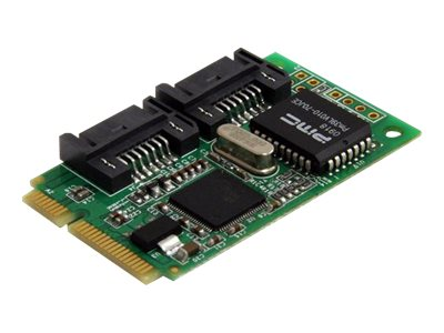 StarTech.com 2-port Mini PCI Express Internal SATA 3Gb s Controller Card, MPEXSATA22I