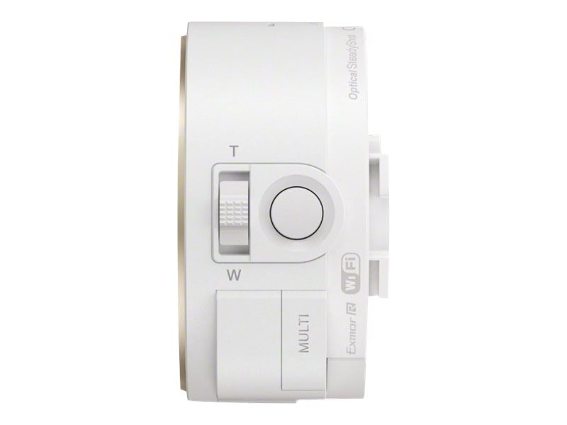 Sony Smartphone Attachable Lens-Style Camera 18MP 10x Optical Zoom, White, HD Video, DSCQX10/W