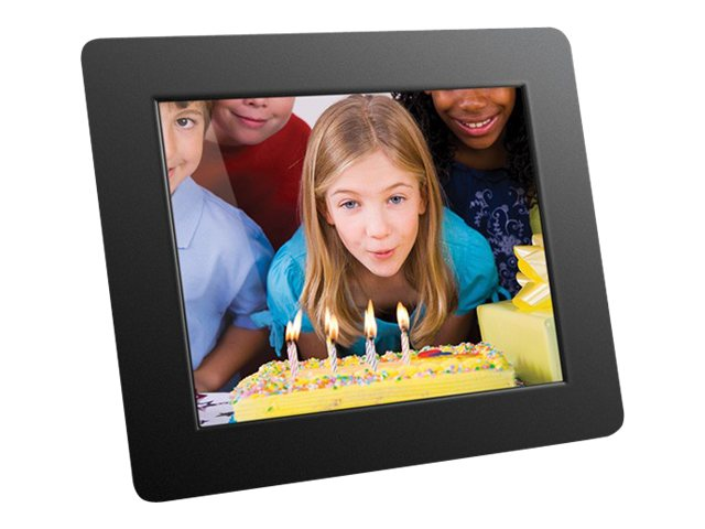 Aluratek High-Resolution Digital Photo Frame, 8in, ADMPF108F, 10147495, Digital Picture Frames