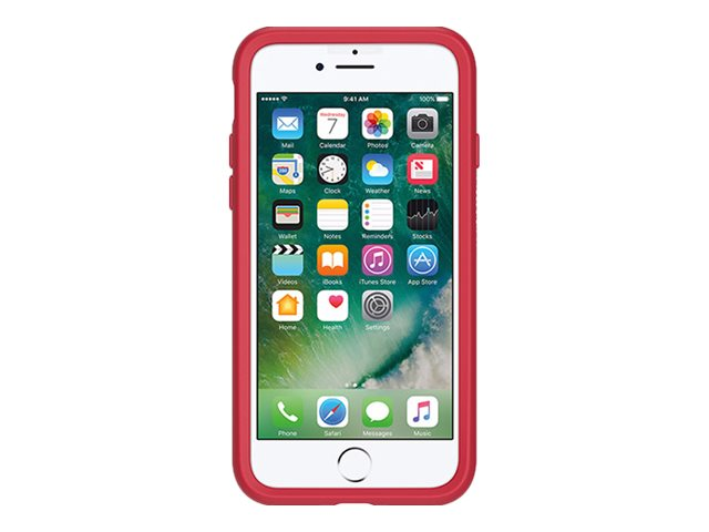 OtterBox Symmetry Case for iPhone 7 Plus, Rosso Corsa