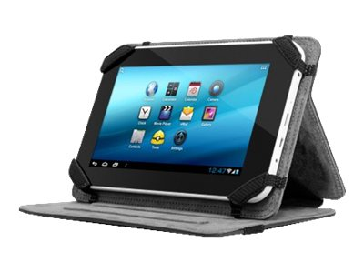 Aluratek Universal Tablet Folio Case Stand 7 w  Multiple Viewing Angles, Black, AUTC07FB