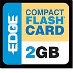 Edge 2GB Premium CompactFlash Card, PE194529, 457031, Memory - Flash