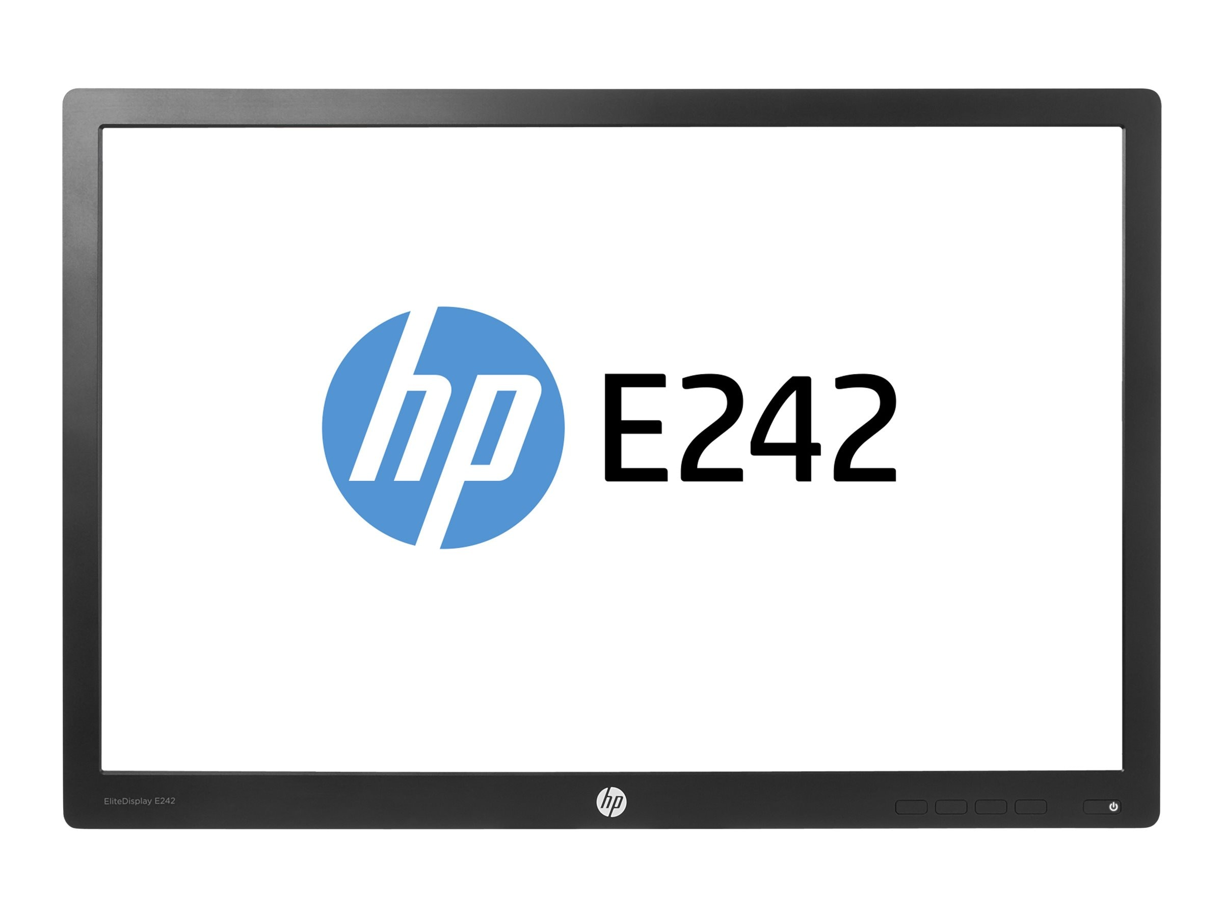 Open Box HP 24 E242 Full HD LED-LCD Monitor, Black (Head Only), N0Q25A8#ABA, 31029068, Monitors - LED-LCD