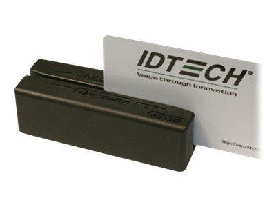 ID Tech MiniMag Duo Card Reader, Tracks 1, 2 and 3, Black