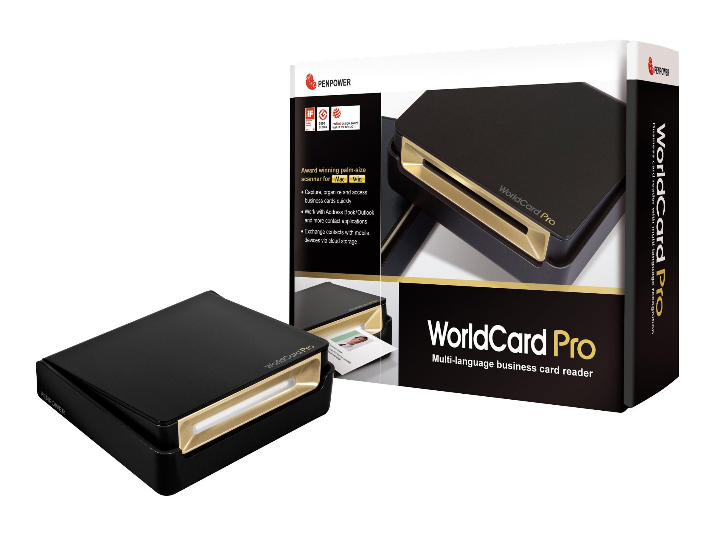 Penpower WorldCard Pro Card Scanner, WCUPRO1EN, 14810531, Scanners