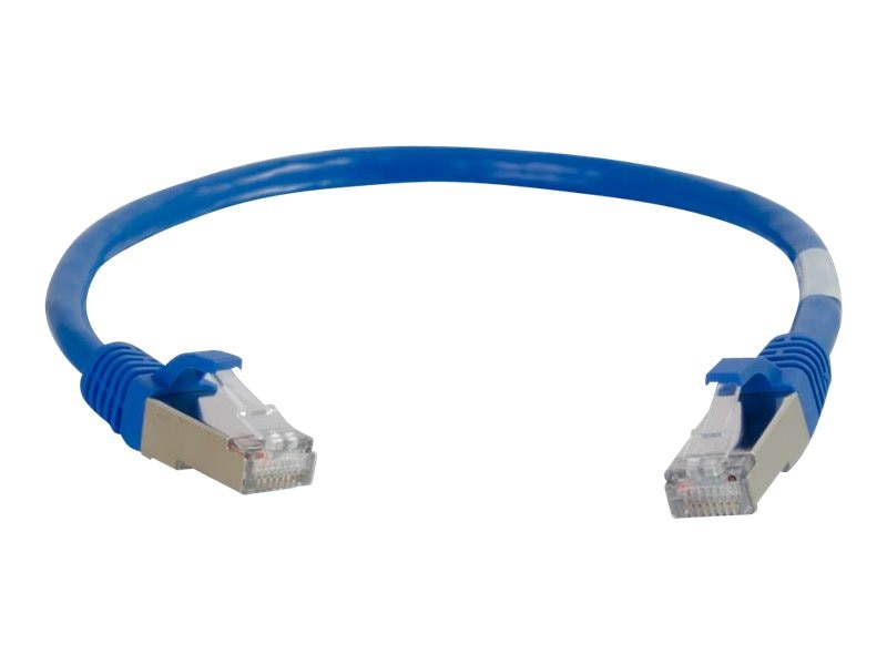 C2G Cat6a Snagless Shielded (STP) Network Patch Cable - Blue, 25ft