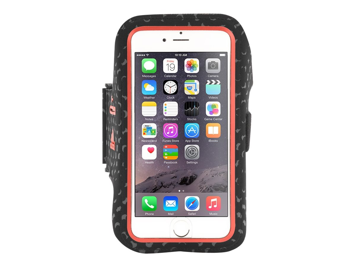 Griffin Adidas Armband for iPhone 6 Plus, Black Red, GB40516, 18493878, Carrying Cases - Phones/PDAs
