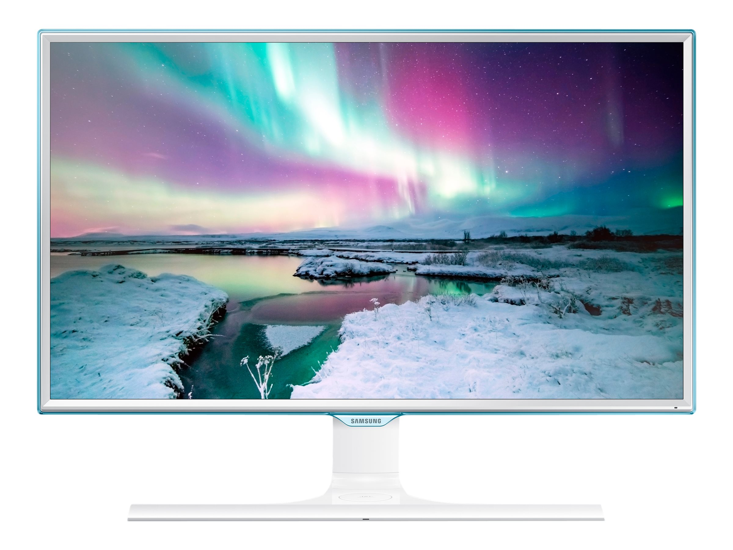 Samsung 23.6 SE370 LED Monitor with Wireless Charging, White