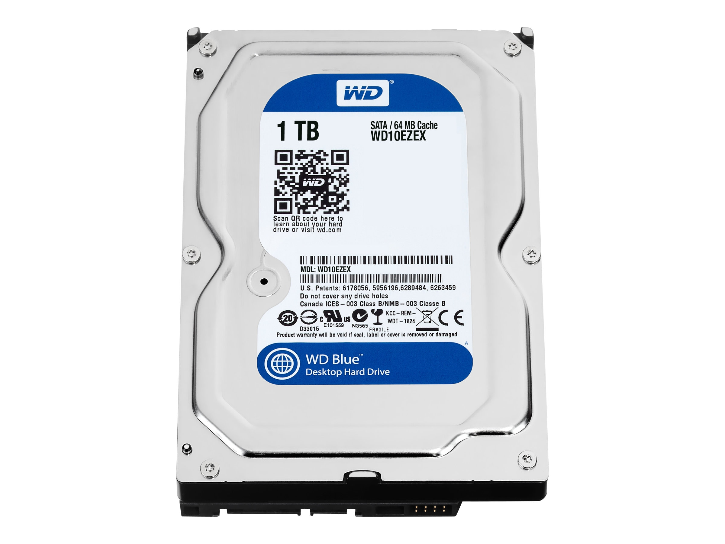 WD 1TB WD Caviar Blue SATA 6Gb s 3.5 Internal Hard Drive - 64MB Cache, WD10EZEX, 14292286, Hard Drives - Internal