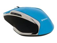 Verbatim Wireless Notebook 6-Button Deluxe Blue LED Mouse, Blue