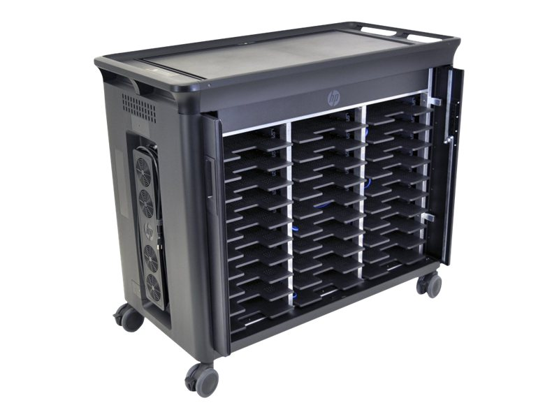 HP Managed Notebook Charging Cart, 30-Unit, QL490UT#ABA, 14429220, Computer Carts