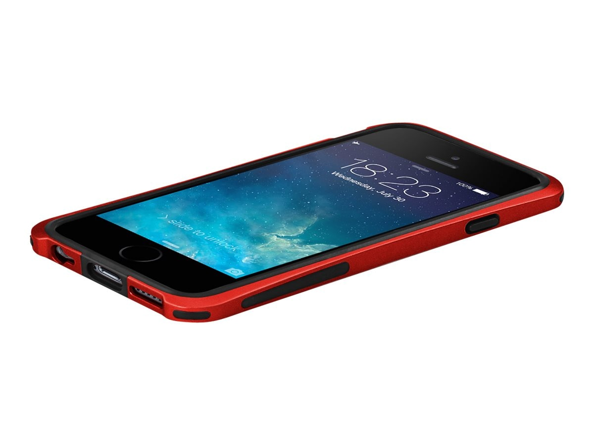 Macally Plastic Polycarbonate Case for iPhone 6, Red, IRONP6MR, 31202001, Carrying Cases - Phones/PDAs