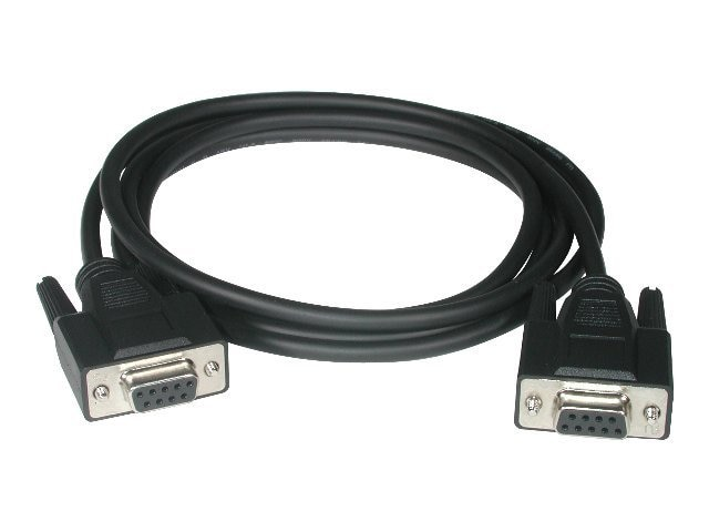 C2G DB9 F F Serial RS232 Null Modem Cable, Black, 10ft, 52039, 19694807, Cables