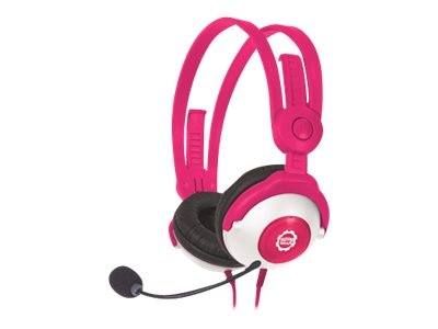 Kidz Gear Headset Headphones with Boom Mic for Kids, Pink