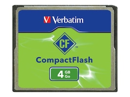 Verbatim 4GB CompactFlash Card, 95188, 5794161, Memory - Flash