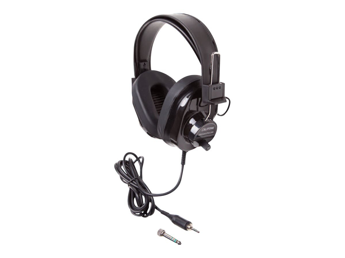 Califone Stereo Headphone w  Volume Control - Black